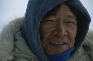 An Inuit from Baffin Island, Canada.