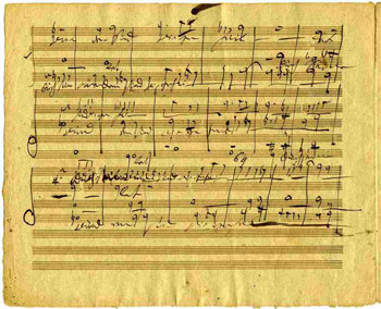 Manuscript of the Messiah copied by Beethoven.
