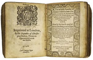 The 1596 Book of Common Prayer.