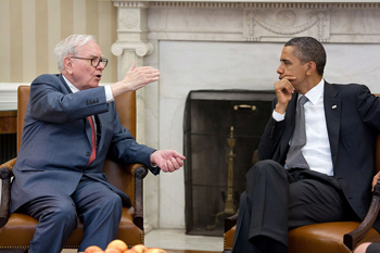 Buffett and Obama in 2011.
