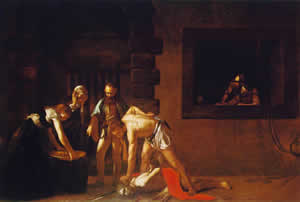 Caravaggio, Beheading of John the Baptist.