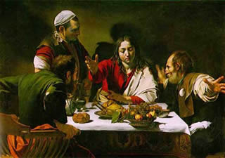 Supper at Emmaus by Caravaggio.