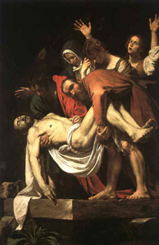The Entombment of Christ by Caravaggio (1603).