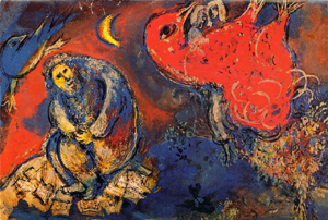 "Yvette Cauquil-Prince tapestry of Chagall's ""Jeremiah""."