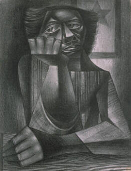 'Awaiting His Return' by Charles White (1945)