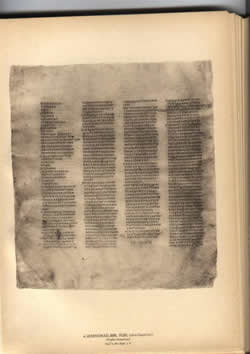 4th century Codex Sinaiticus, the entire text of OT and NT.
