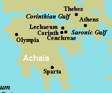 Map of first century Corinth.