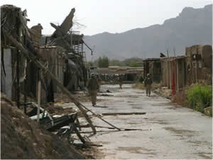Deserted town of Now Zad, Afghanistan, formerly home to 30,000 people.