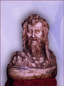 John the Baptist by Donatello (marble), c. 1450.