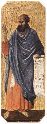Ezekiel, by Duccio di Buoninsegna (1308-1311); Tempera on wood.
