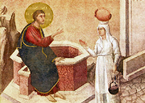 The Woman of Samaria at the Well, Duccio di Buoninsegna, c 1300.