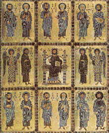 Eastern Orthodox icon of the saints.