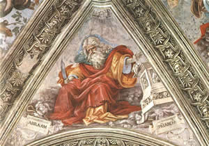 Abraham by Fillipino Lippi, 1502, Fresco, Strozzi Chapel, Florence.