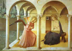 "Fra Angelico's ""Annunciation""."