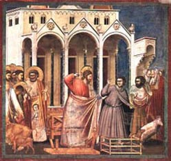 Cleansing of the Temple, Giotto Bordone (1276–1336).