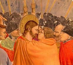 Judas betrays Jesus, Giotto, 1266-1337.