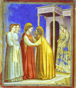 The Visitation of Mary by the angel Gabriel, Giotto di Bondone, 1302-1305.