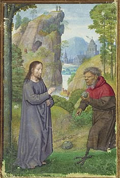 The Temptation of Christ by Simon Bening.