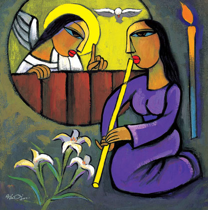 'The Annunciation' by He Qi