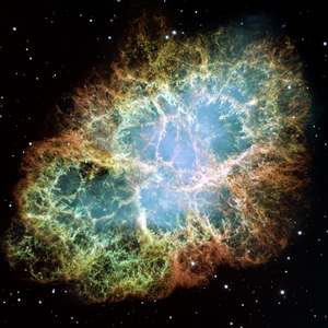 Hubble Space Telescope image of the Crab Nebula.