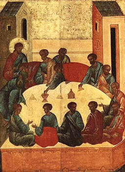 Icon of the Last Supper.