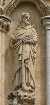 James, Salisbury Cathedral, UK.