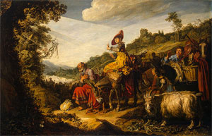 Abraham on the road to Canaan, Pieter Lastman, 1614