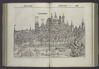 Late Medieval Nuremberg from the Nuremberg Chronicle.