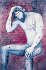 """Man of Sorrows: Christ with AIDS,"" 1993, by Maxwell Lawton, Painter and Activist, April 27, 1956 - September 16, 2006."