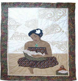 Applique Quilt, Maori Madonna and Child.