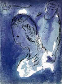 Abraham and Sarah, by Marc Chagall, 1956.