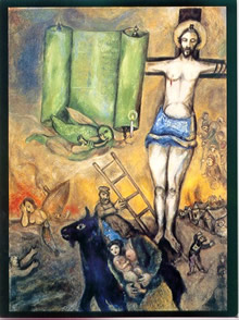 "Marc Chagall, ""Yellow Crucifixion"" (1943)."