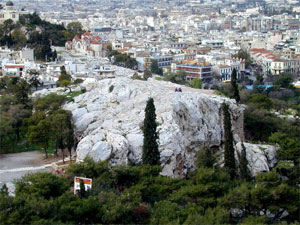 A closer view of the Areopagus