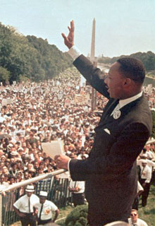 Martin Luther King's, Jr., 'I have a dream' speech.
