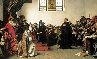 Luther at the Diet of Worms called by Charles V.