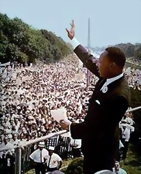 "King's ""I Have a Dream"" speech, August 28, 1963, in Washington."