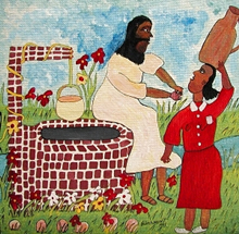 "Michael Parchment's ""Woman at the Well"" (Jamaica)."