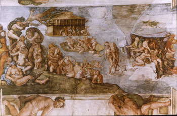 The Flood, Michelangelo, Sistine Chapel.