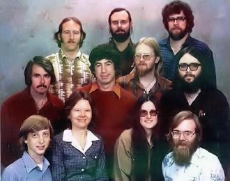 Microsoft management team, December 7, 1978.