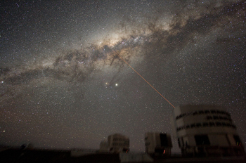 Our Milky Way galaxy seen from the Paranal Observatory in Chile.