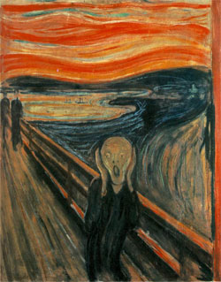 *The Scream* by Edvard Munch (1893)