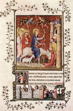The Cleansing of Naaman by the Prophet Elisha, Master of the Baptist, c. 1409.