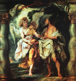 Elijah receives bread from the angel, Paul Rubens, 1625-1628.
