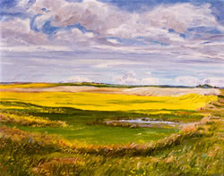 Prairie winds painting.