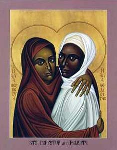 Montanist martyrs; The Africans Perpetua and Felicitas.