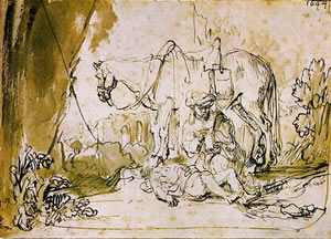The Good Samaritan by Rembrandt.