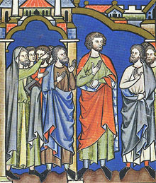 Samuel anoints Saul as King, Maciejowski Bible (13th century illuminated manuscript).