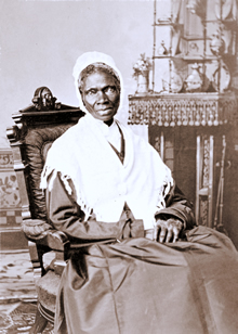 "Sojourner Truth (1797-1883): former slave, reformer and author of ""Ain't I a Woman?"" (1851)."