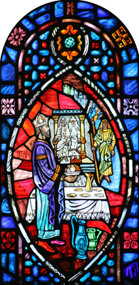 Stained glass from Our Lady Queen of Apostles, Hamtramck.