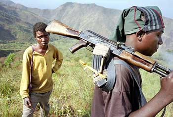 Teenage soldiers in the Congo